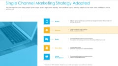 Unified Business To Consumer Marketing Strategy Single Channel Marketing Strategy Adopted Download PDF