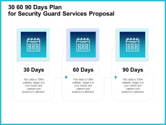 Uniformed Security 30 60 90 Days Plan For Security Guard Services Proposal Formats PDF
