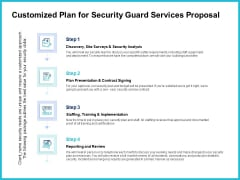 Uniformed Security Customized Plan For Security Guard Services Proposal Portrait PDF