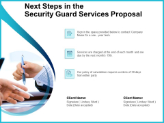 Uniformed Security Next Steps In The Security Guard Services Proposal Rules PDF