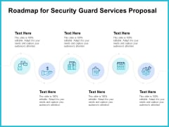 Uniformed Security Roadmap For Security Guard Services Proposal Diagrams PDF