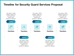 Uniformed Security Timeline For Security Guard Services Proposal Structure PDF