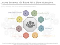 Unique Business Mix Powerpoint Slide Information