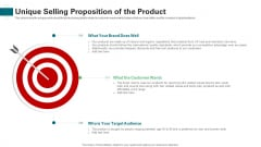 Unique Selling Proposition Of The Product Ppt Layouts Deck PDF