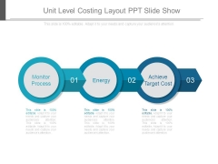Unit Level Costing Layout Ppt Slide Show