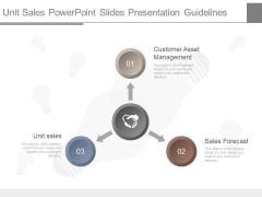 Unit Sales Power Point Slides Presentation Guidelines