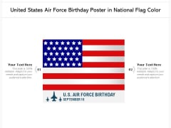 United States Air Force Birthday Poster In National Flag Color Ppt PowerPoint Presentation Gallery Icon PDF
