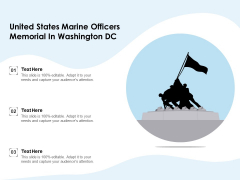 United States Marine Officers Memorial In Washington DC Ppt PowerPoint Presentation Icon Design Templates PDF