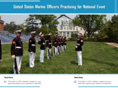 United States Marine Officers Practising For National Event Ppt PowerPoint Presentation Ideas Deck PDF