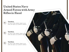 United States Navy Armed Forces With Army Rifles In Hand Ppt PowerPoint Presentation Professional Smartart PDF