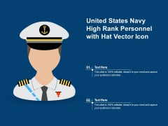 United States Navy High Rank Personnel With Hat Vector Icon Ppt PowerPoint Presentation Gallery Example PDF