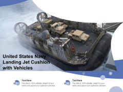 United States Navy Landing Jet Cushion With Vehicles Ppt PowerPoint Presentation Styles Topics PDF