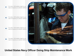 United States Navy Officer Doing Ship Maintenance Work Ppt PowerPoint Presentation Example 2015 PDF