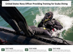 United States Navy Officer Providing Training For Scuba Diving Ppt PowerPoint Presentation Portfolio Themes PDF