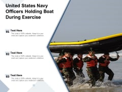 United States Navy Officers Holding Boat During Exercise Ppt PowerPoint Presentation Gallery Aids PDF