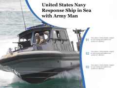 United States Navy Response Ship In Sea With Army Man Ppt PowerPoint Presentation Sample PDF