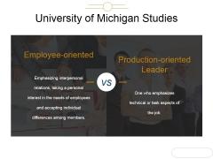 University Of Michigan Studies Ppt PowerPoint Presentation Layouts