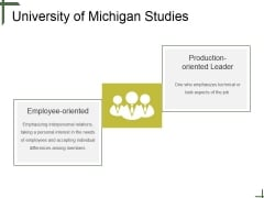 University Of Michigan Studies Ppt PowerPoint Presentation Slide Download
