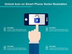 Unlock Icon On Smart Phone Vector Illustration Ppt PowerPoint Presentation Ideas Picture PDF