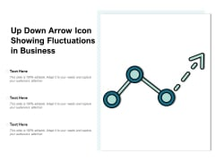Up Down Arrow Icon Showing Fluctuations In Business Ppt PowerPoint Presentation Layouts Display