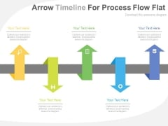 Up Down Arrows For Timeline Planning Powerpoint Template