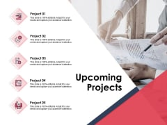 Upcoming Projects Ppt PowerPoint Presentation Model Gallery