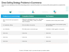 Upselling Strategies For Business Direct Selling Strategy Problems In Ecommerce Structure PDF
