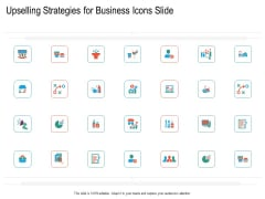 Upselling Strategies For Business Icons Slide Ppt Model Ideas PDF