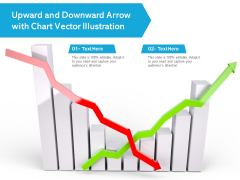 Upward And Downward Arrow With Chart Vector Illustration Ppt PowerPoint Presentation Styles Graphics Example PDF