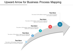Upward Arrow For Business Process Mapping Ppt PowerPoint Presentation Gallery Templates PDF