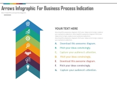 Upward Arrow With Strategic Planning Icons PowerPoint Slides