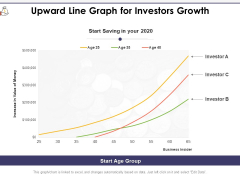 Upward Line Graph For Investors Growth Ppt PowerPoint Presentation Gallery Topics PDF