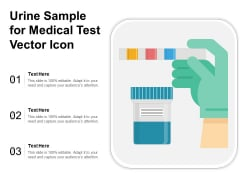 Urine Sample For Medical Test Vector Icon Ppt PowerPoint Presentation Gallery Guidelines PDF
