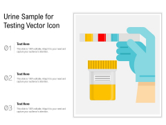 Urine Sample For Testing Vector Icon Ppt PowerPoint Presentation Inspiration Vector PDF