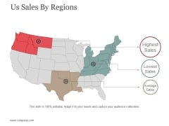 Us Sales By Regions Ppt PowerPoint Presentation Icon Template