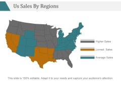 Us Sales By Regions Ppt PowerPoint Presentation Layout