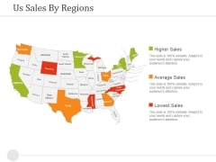 Us Sales By Regions Ppt PowerPoint Presentation Summary Layout