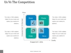 Us Vs The Competition Ppt PowerPoint Presentation Icon