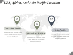 Usa Africa And Asia Pacific Location Ppt PowerPoint Presentation Graphics