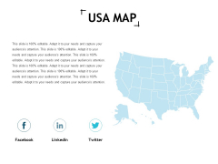 Usa Map Management Ppt Powerpoint Presentation Examples
