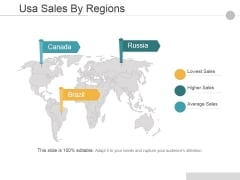 Usa Sales By Regions Ppt PowerPoint Presentation Infographics Images