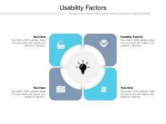 Usability Factors Ppt PowerPoint Presentation Styles Designs Cpb Pdf