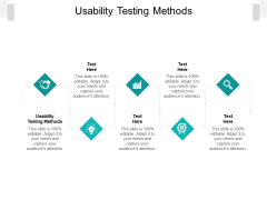 Usability Testing Methods Ppt PowerPoint Presentation Show Template Cpb Pdf