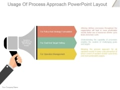 Usage Of Process Approach Ppt PowerPoint Presentation Design Ideas
