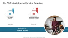 Use A B Testing To Improve Marketing Campaigns Ppt Infographics Designs PDF