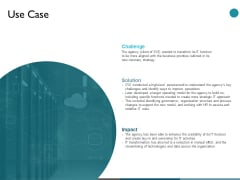 Use Case Challenge Ppt PowerPoint Presentation Show Slide Portrait
