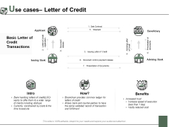 Use Cases Letter Of Credit Ppt PowerPoint Presentation File Slide Download