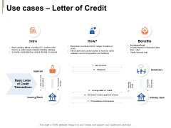 Use Cases Letter Of Credit Ppt PowerPoint Presentation Ideas Layout