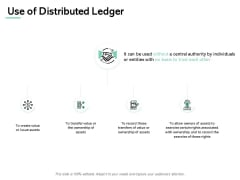 Use Of Distributed Ledger Gears Ppt PowerPoint Presentation Model Outfit