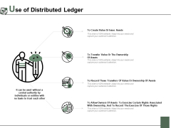 Use Of Distributed Ledger Ppt PowerPoint Presentation Gallery Graphics Example